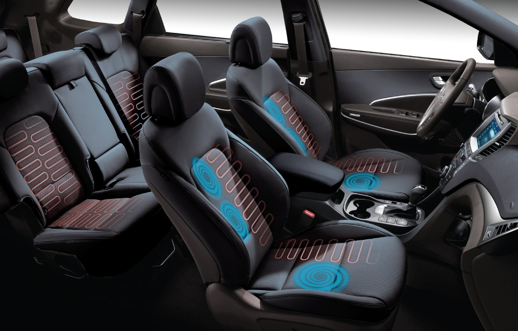 Hyundai Santa Fe is one of the Winners of the 2019 wards 10 best interiors award