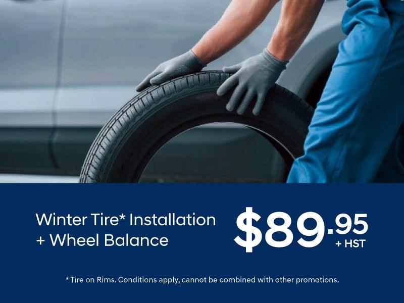 Winter Tire and Wheel Balance